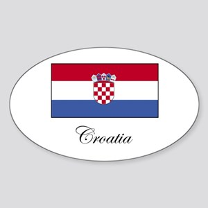 Croatia - Flag Oval Sticker