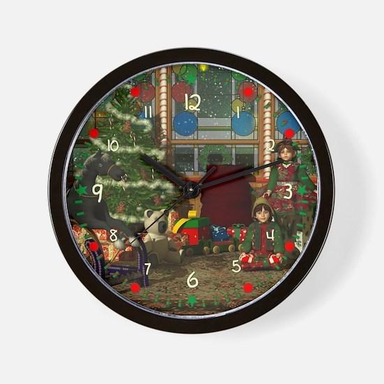 Christmas Elves Wall Clock