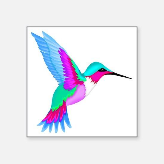 """HUMMINGBIRD 2 Square Sticker 3"""" x 3"""""""