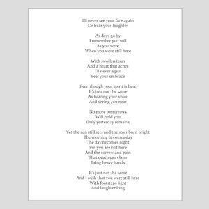 Death Poem By P. Sanders Posters