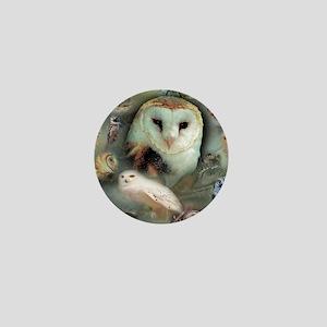 Happy Owls Mini Button
