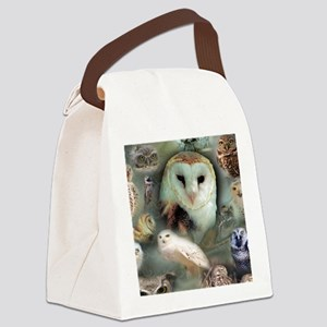 Happy Owls Canvas Lunch Bag