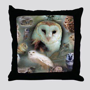 Happy Owls Throw Pillow