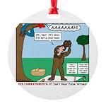 Witnessing False Bears Round Ornament