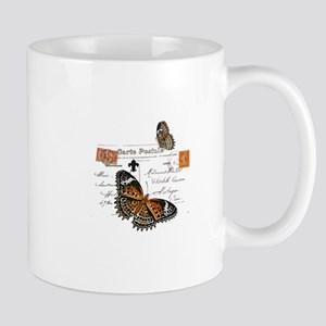 Orange Monarch Butterfly Mug