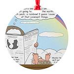 Rainbow: God's Sticky Note Round Ornament