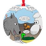 Sheep, Wolf, et al Round Ornament