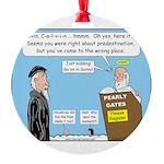 Calvin and Predestination Round Ornament