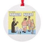 Sumo Theologica Round Ornament