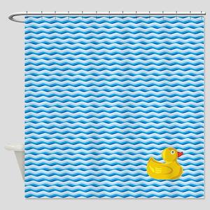 Ducky Swim Shower Curtain