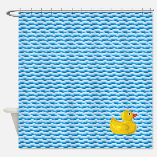 Ducky Swim Shower Curtain