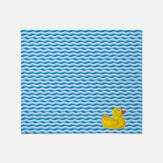 Ducky Swim Throw Blanket