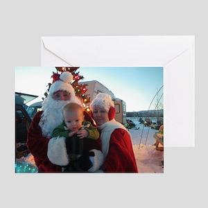 Mr and Mrs Gary Santa Claus Greeting Card