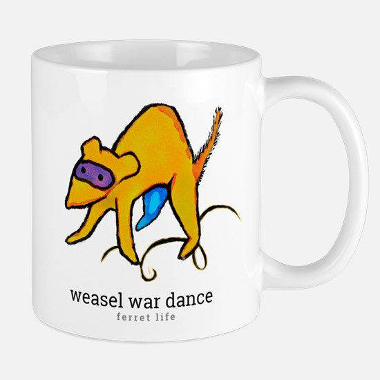 ferret life: weasel war dance Mugs