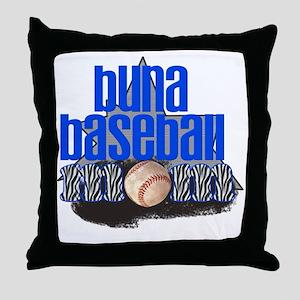 Buna Baseball Mom Throw Pillow