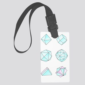 Diamond crystal forms, artwork Large Luggage Tag