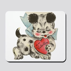 Puppy dog Valentine Mousepad