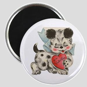 Puppy dog Valentine Magnet