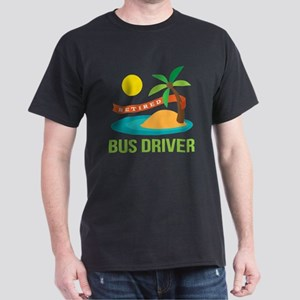 Retired Bus Driver Dark T-Shirt