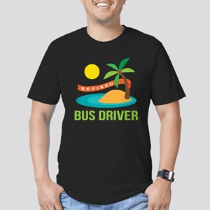 Retired Bus Driver Men's Fitted T-Shirt (dark)
