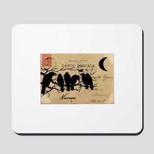 Nevermore Ravens Carte Postale Mousepad
