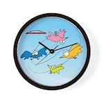 All The Good Birdies On their Way Wall Clock
