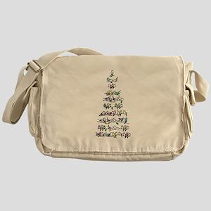 Christmas Bird Tree Messenger Bag