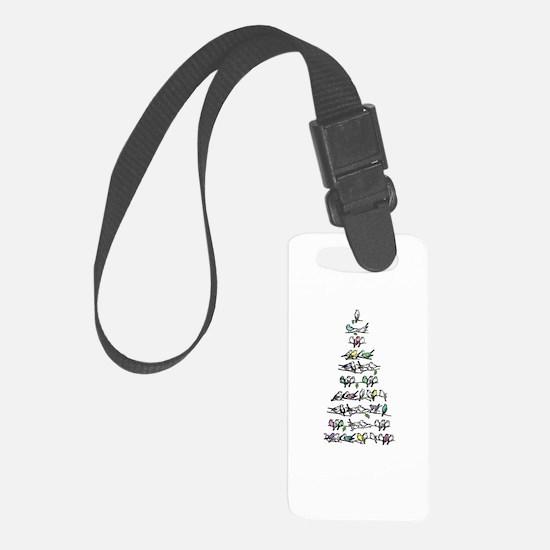 Christmas Bird Tree Luggage Tag