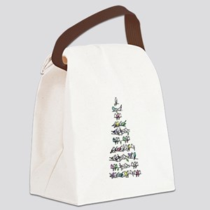 Christmas Bird Tree Canvas Lunch Bag