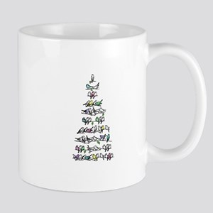 Christmas Bird Tree Mug