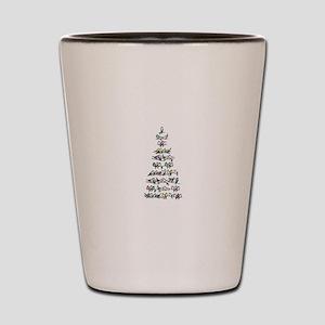 Christmas Bird Tree Shot Glass