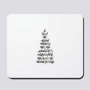 Christmas Bird Tree Mousepad