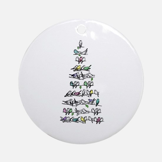 Christmas Bird Tree Ornament (Round)