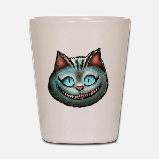 Cheshire face Shot Glass