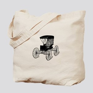 Old Fashioned Black Buggy Tote Bag