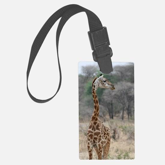 Young Giraffe Large Luggage Tag