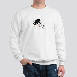 Black Raven Swirl Branches Sweatshirt