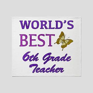 World's Best 6th Grade Teacher Throw Blanket