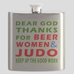 Beer Women and Judo Flask