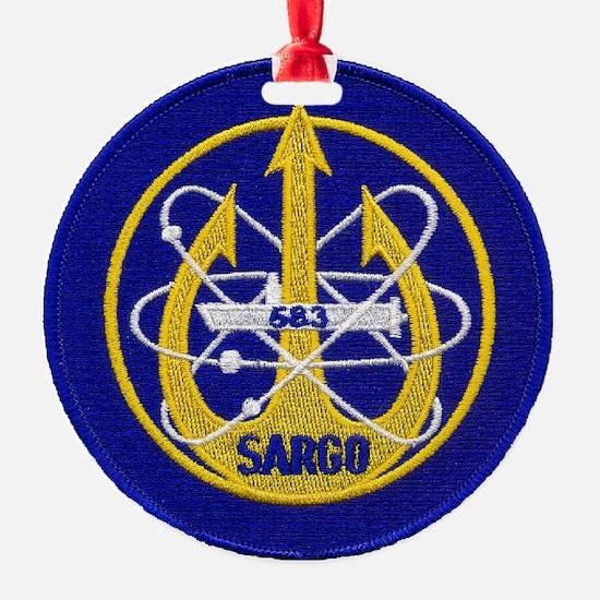 uss sargo patch transparent Ornament