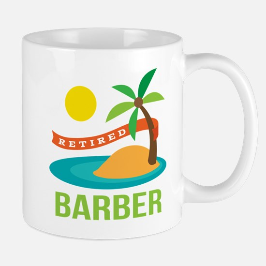 Retired Barber Mug