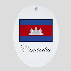 Cambodia - Flag Oval Ornament