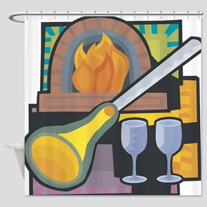 Glass Blowing Shower Curtain