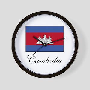 Cambodia - Flag Wall Clock