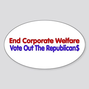End Corporate Welfare Sticker