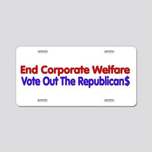 End Corporate Welfare Aluminum License Plate