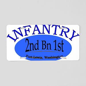 2nd Bn 1st Inf cap2 Aluminum License Plate