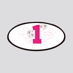 Pink Custom number birthday Patches