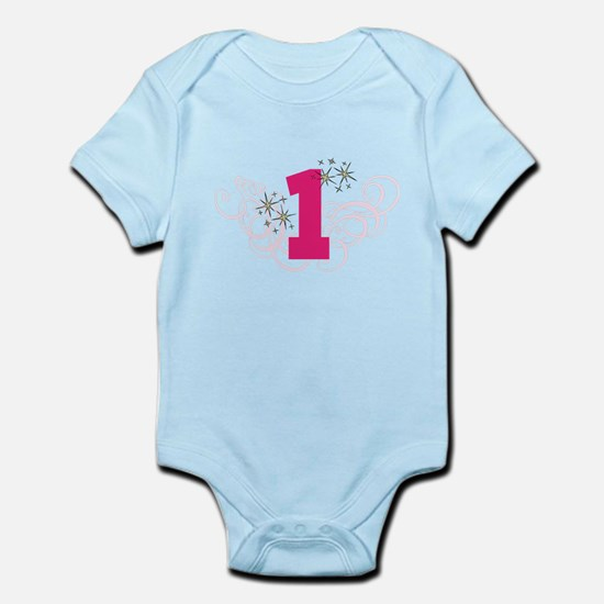 Pink Custom number birthday Body Suit