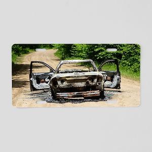 Burnt Car Aluminum License Plate
